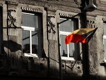 Czech flaga na antycznym budynku Zdjęcia Stock