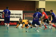 Czech floorball league Stock Photos
