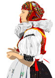 Czech folklore costume Royalty Free Stock Photography
