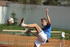 Czech footballtennis extraleague -Petr Bubniak Royalty Free Stock Photos