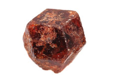 Czech garnet mineral. Isolated on the white background royalty free stock image
