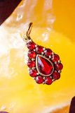 Czech garnet pendant Royalty Free Stock Photography