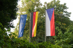 Czech and german flag Royalty Free Stock Images