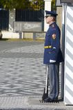 Czech guard. Prague, Czech Republic - October 12, 2008: A guard stands motionless at the entrance to Prague Castle, along with daily change of guard, this is one Stock Photography
