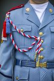 Czech guards uniform in front of the Prague castle. And Presidential palace Stock Images