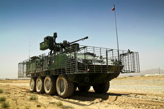 Czech heavy armored vehicle Pandur in Afghanistan Stock Image