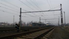 Czech High Speed Train stock footage
