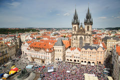 Czech hockey fans Stock Photos