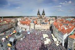 Czech hockey fans Royalty Free Stock Photo
