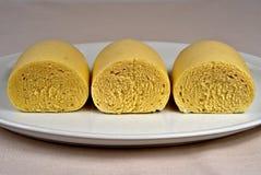 Czech homemade gluten free bread dumpling stock image