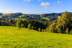Czech - impressive views of the nearby and far away surroundings from stone bridge Pravcicka brana Stock Images