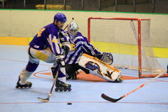 Czech inline hockey extraleague Royalty Free Stock Photography