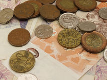 Czech Koruna coins and notes Stock Photos