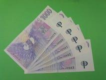 Czech Koruna notes, Czech Republic Stock Photo