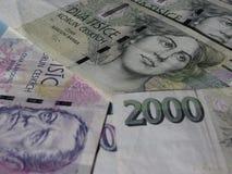 Czech korunas banknotes Royalty Free Stock Image