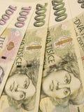 Czech korunas banknotes Stock Images