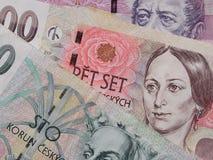 Czech korunas banknotes Stock Image