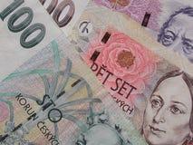 Czech korunas banknotes Royalty Free Stock Images