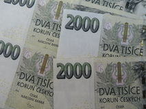Czech korunas banknotes Stock Photography