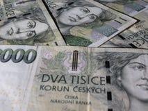 Czech korunas banknotes Stock Photo