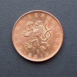 Czech korunas coins Royalty Free Stock Photography
