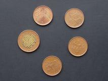 Czech korunas coins Stock Photos