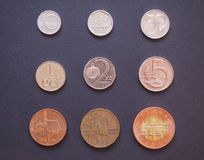 Czech korunas coins Stock Photo