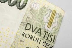 Czech korunas CZK. Banknotes, Czech Republic Royalty Free Stock Photo