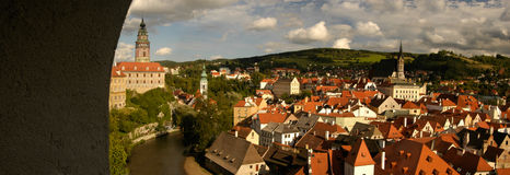 Czech Krumlov. View Royalty Free Stock Images