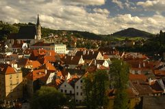 Czech Krumlov. View  (Church of Sv Vit Stock Photography