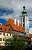 Czech Krumlov architecture. Czech Krumlov cathedral view (Czech Republic Stock Photo