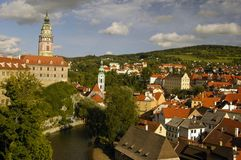 Czech Krumlov arhitekture. View of the Czech city Cesky Krumlov Royalty Free Stock Image