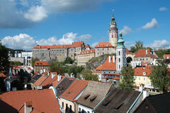 Czech Krumlov Castle Royalty Free Stock Photography