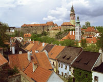 Czech Krumlov view Stock Images