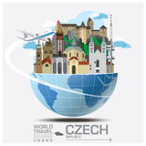 Czech Landmark Global Travel And Journey Infographic Royalty Free Stock Photo