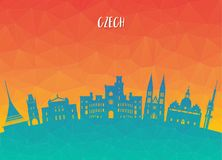 Czech Landmark Global Travel And Journey paper background. Vecto. R Design Template.used for your advertisement, book, banner, template, travel business or Royalty Free Stock Photography