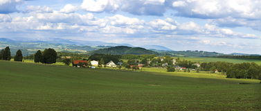 Czech landscape. Wide-angle panorama of Czech republic landscape Stock Photography