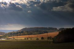 Czech landscape in autumn Royalty Free Stock Image