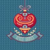 Czech language. Vesele Vanoce. Christmas message. Royalty Free Stock Image