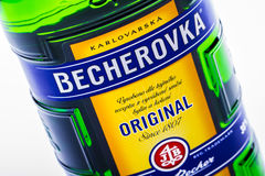 Czech liqueur Becherovka Royalty Free Stock Photo
