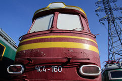 Czech locomotive in Russia Royalty Free Stock Images