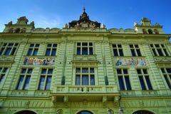Czech: MÄ› Å ¡ Å¥anskà ¡ Beseda, Stara architektura, Pilsen, republika czech Obrazy Stock