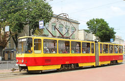 Czech-made Tatra trams in Vinnytsia, Ukraine Royalty Free Stock Images