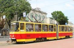 Czech-made Tatra trams in Vinnytsia, Ukraine Royalty Free Stock Images