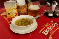 Czech menu Stock Photo