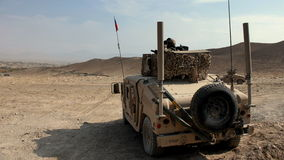 Czech military vehicle on guard Stock Image
