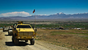 Czech Military Vehicles in Afghanistan Stock Photos