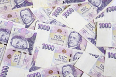 Czech money 1000 Stock Photos
