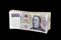 Czech money. A photo of pack of czech banknotes Stock Photo