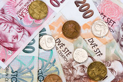Czech money Stock Photos